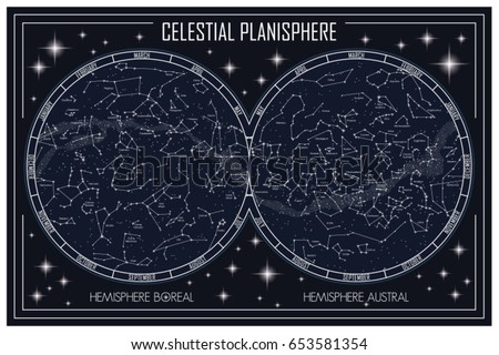 map of the celestial...