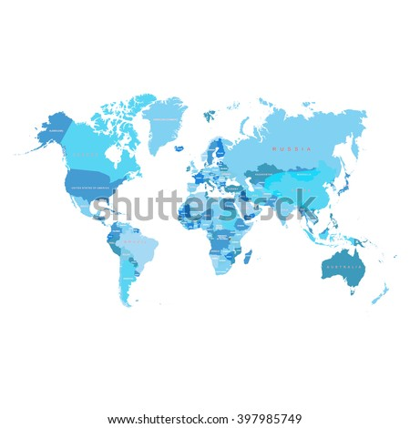 map of the earth with the words next to each  country