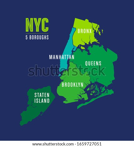 Map of the five boroughs of New York City Сток-фото ©