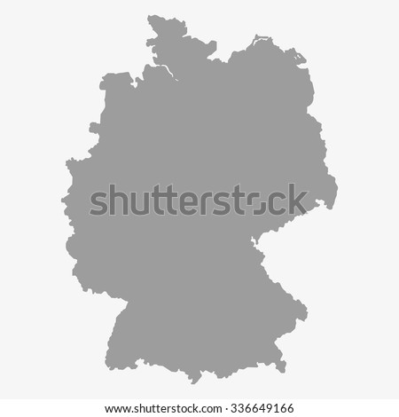 map  of the germany in gray on