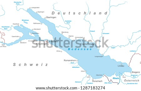 map of the lake constance  with