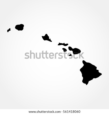 map of the us state of hawaii