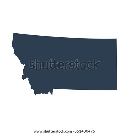 All States Map Of The U S State Of Montana