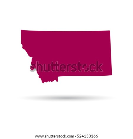 Shutterstock Map of the U.S. state of Montana on a white background