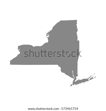 map of the U.S. state of New York, vector