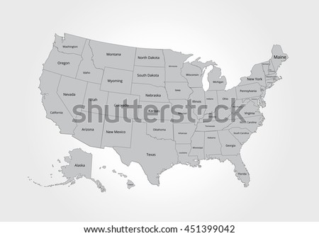 map of the usa image with