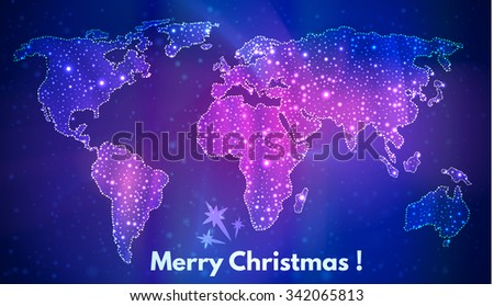 map of the world  a festive
