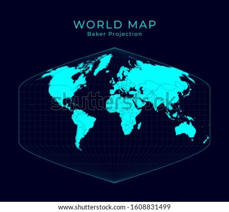 map of the world baker dinomic