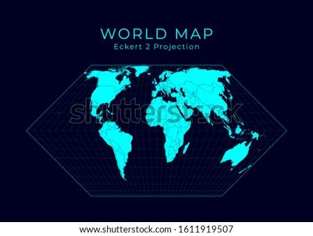 map of the world eckert ii