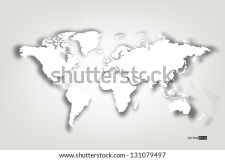 Map of the world. EPS10 vector illustration.