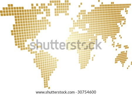 Free vector mosaic world map download free vector art stock map of the world illustration perspective mosaic block style gumiabroncs Choice Image