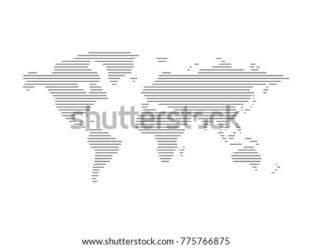 Map of the world in lines #775766875