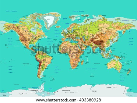 Vector de mapa de amrica del sur descargue grficos y vectores gratis map of the world vector illustration names of countries and cities continents gumiabroncs Image collections