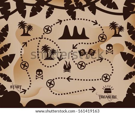 map of treasure treasure map