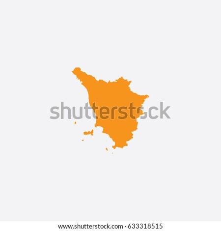 Map of Tuscany - Italy Vector Illustration   ストックフォト ©