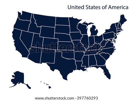 Map of U.S.A Stockfoto ©