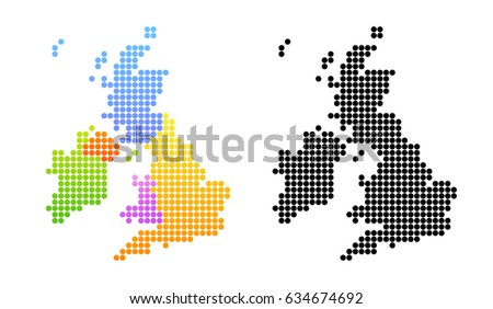 map of united kingdom and