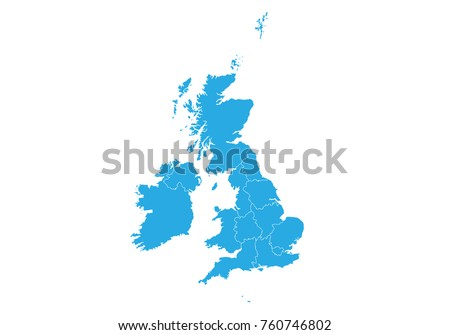 Free vector map of united kingdom map of united kingdom high detailed vector map united kingdom gumiabroncs Gallery