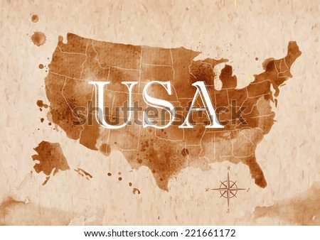 map of united states in old
