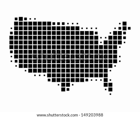 US Dotted Map Vector Download Free Vector Art Stock Graphics