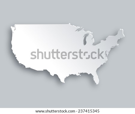 Free US Map Silhouette Vector - Large image map of us vector labels
