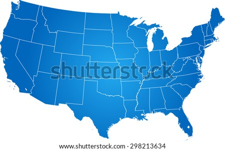 map of USA Stockfoto ©