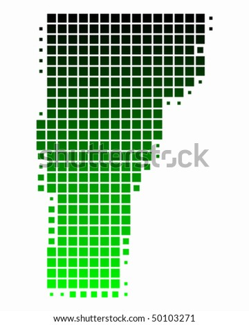 Map Of Vermont. stock vector : Map of Vermont