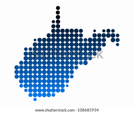 Map of West Virginia - stock vector