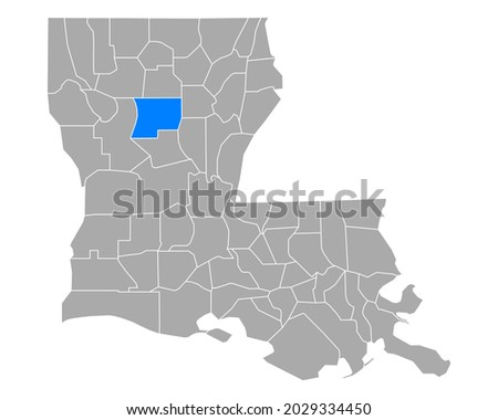 map of winn in louisiana on