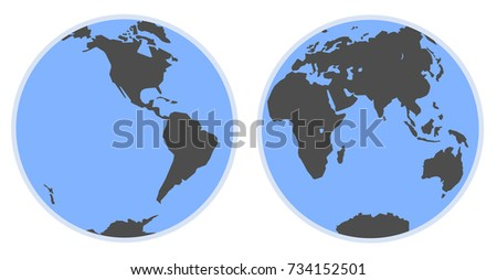 Hemisphere free vector art 21 free downloads stock vector map of world silhouette of the gumiabroncs Choice Image