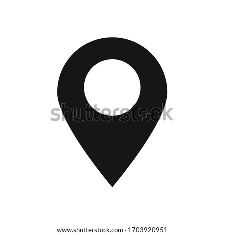 Map pin flat icon for web design, vector isolated gps pointer.