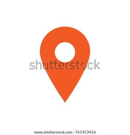 Map pin, gps pointer mark, vector icon