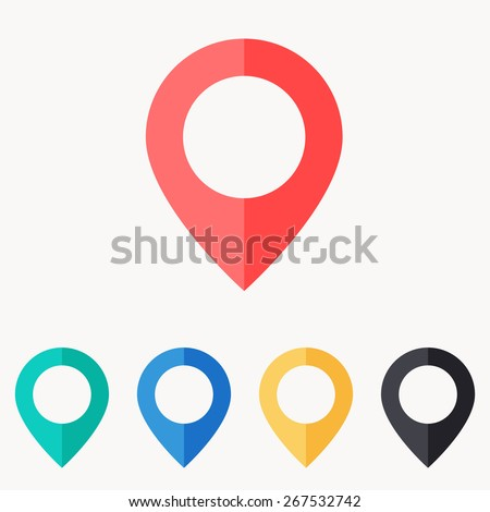 map pin icon , flat design