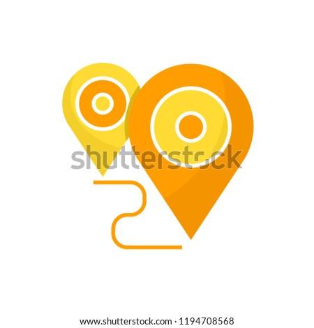 map pin icon, navigation pin