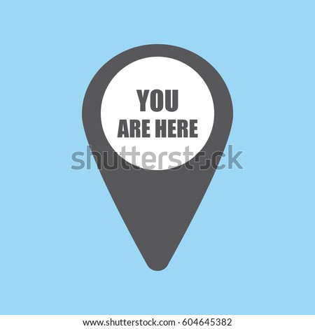 map pin icon with you are here