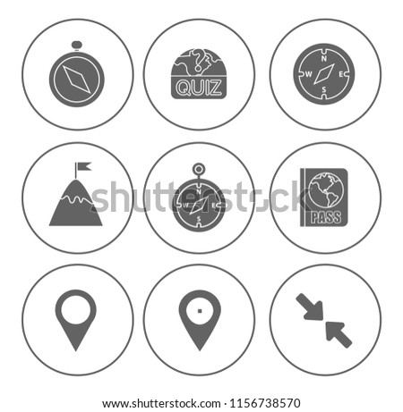 Map pin icons set - navigation marker - travel gps sign & symbols