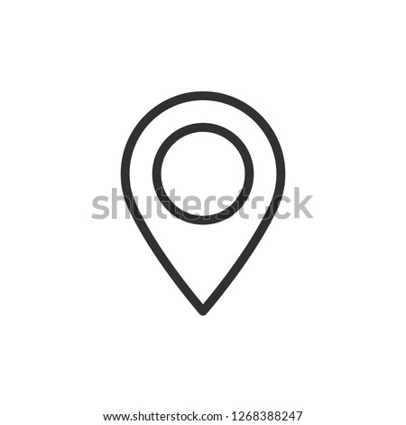 map pin. linear icon. Line with editable stroke