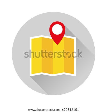 map pin location flat illustration icon circle map location pin circle icon logo travel flat location map address sight illustration car tour and travel guide tour bus walk road map