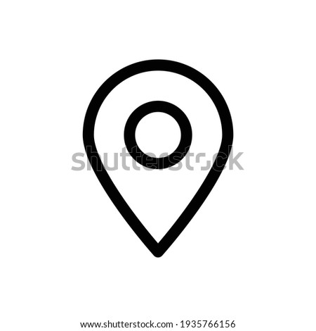 Map Pinpoint Icon, vector icon of simple forms of point of location. location icons. Modern map markers .Vector illustration on a white background. Pointer, location icon. Map With A Pin Photo stock ©