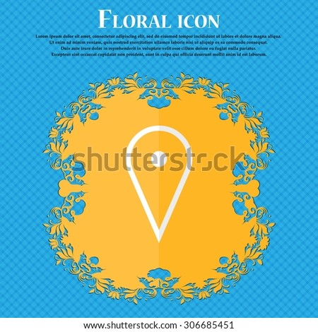 map poiner floral flat design