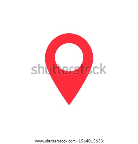 Map pointer flat icon. Vector Eps 10 . Lorem Ipsum Design Flat