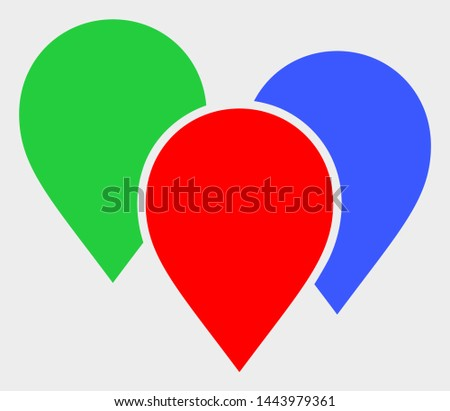 Map Pointer Group vector icon. A flat illustration design of Map Pointer Group icon on a white background.