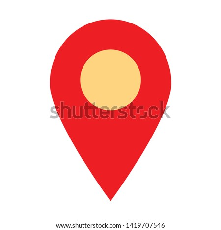 map pointer icon. flat illustration of map pointer vector icon for web