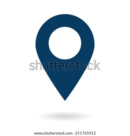 Map pointer icon. GPS location symbol. Flat design style. Vektor EPS 10.