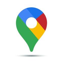 Map pointer icon. GPS location symbol.Vector illustration.