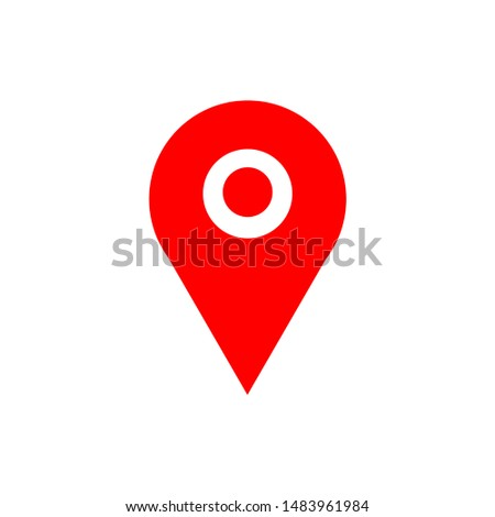 map pointer icon. illustration of world map pointer vector icon for web. Isolated on white background.