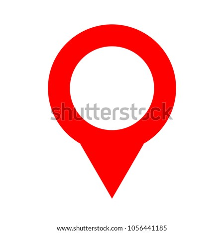 Map pointer icon - location button