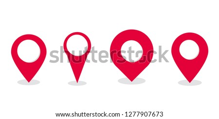 Map pointer icon, location pin vector symbol - Vector