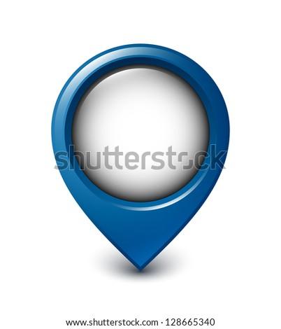Map pointer icon on white background