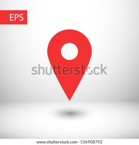 map pointer icon. One of set web icons